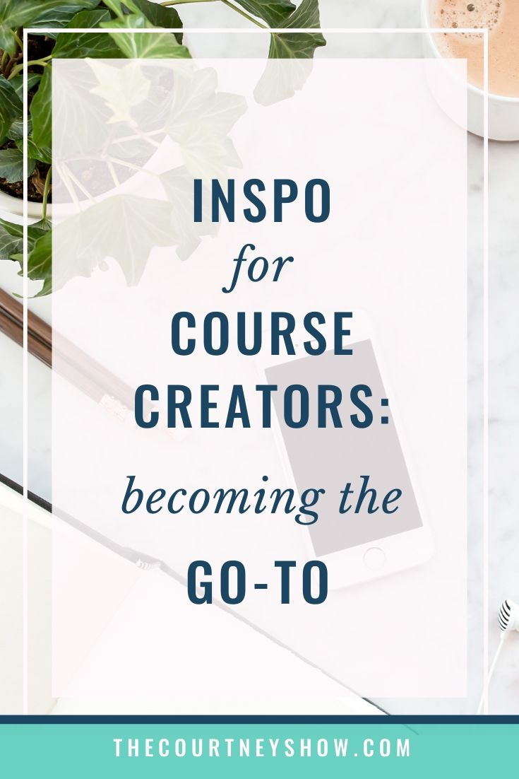 creating a course makes you a go-to expert
