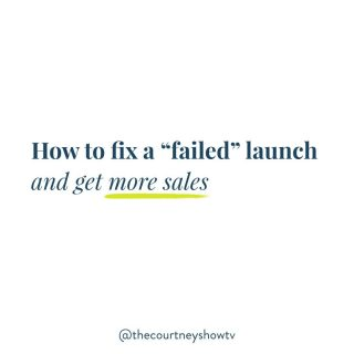 "Swipe left (SOUND ON 🎤) for a little lesson in how to save a ""failed"" launch. What do you do when you *don't* get the sales you'd expect? Or ANY sales at all? Whether you're launching a course, a pocket product, really *any* product or service for the first time, it can be so frustrating to put in all that work, yet not see the results you were hoping for. Or any results. But what do you do? Lower the price? Overhaul the sales page? Promote again? Pivot to a totally different offer? Or give up altogether? After working with thousands of business owners, I've seen many of my students find tremendous success... but I've also seen a fair share of them ride the StruggleBus. One BIG thing that my most successful students have in common: Their ability to look at the DATA, diagnose the REAL problem, then work to solve that problem. Essentially: Data > Drama On the flipside, the business owners that seem to struggle the most are the ones that are running around in circles, trying to solve things that aren't even the problems, meanwhile ignoring the *real* problem—which is sometimes the easiest one to solve. It's easy to say: Oh, it's the sales page. That's why no one bought. I'll keep futzing with that until it magically works. OR: It's the price. It was too expensive for people. I can just feel it. I'll drop the price! Or offer a discount! Or do a beta test! Give it away! OR (my ""favorite""): Well, this just confirms that my market is too cheap. They aren't willing to spend money. They'll never buy my offer. But how do you know if it's *any* of those things? Spoiler alert: It rarely is. Today, I'm walking through The ""Failure"" Flowchart. I'm giving you exactly what you need to diagnose the actual problem, then giving you the action steps to solve that problem. Hint: It's not magic, it's math. Success doesn't have to be elusive or exclusive; it's totally accessible and possible IF you know what to focus on—and just as importantly, what to ignore. Ready? Swipe left, turn the sound on, & let's do this! P.S. If you enjoyed today's post, be sure to save it, tag a friend you know who might get value from it, and share to your stories. Tag me, too! 😉"